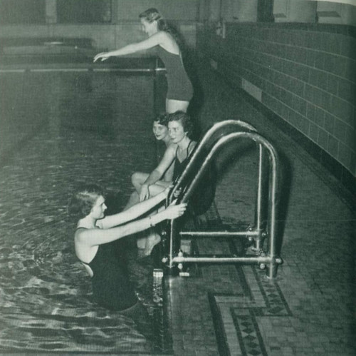 Swimming at Vassar, 1951
