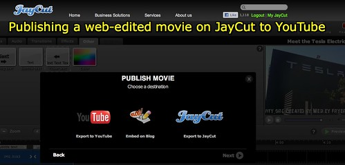 Publishing from JayCut to YouTube