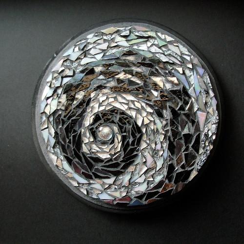 Film Noir Starlight Spiral Mandala
