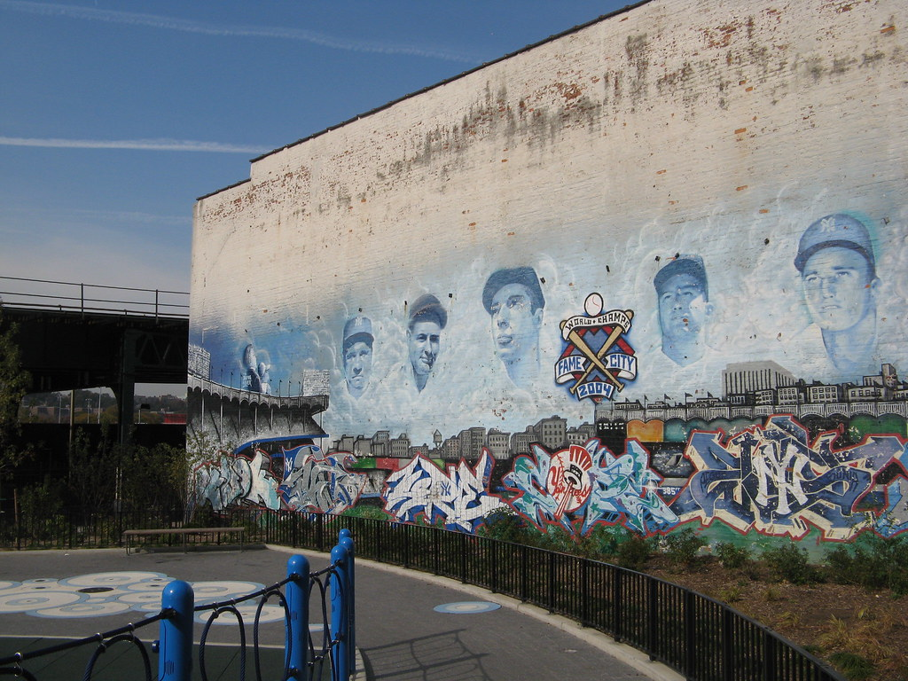 Amazing Photo Taken October Gary Dunaier Link To Upload On Flickrcom Here With Yankee Stadium Wall Mural