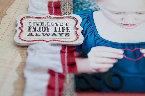 love & enjoy life {detail}