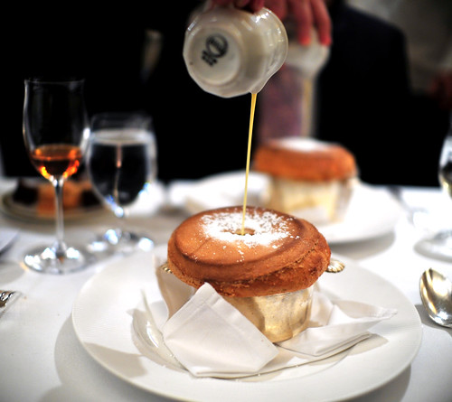 6th Course: Hazelnut Souffle