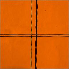 walls (rita vita finzi) Tags: light two orange abstract wall crossing warmth minimal strings ritavitafinzi urbanabstractions minimalworld ritavitafinziportfolio