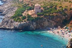 caletta 2 (kikkedikikka) Tags: sea sun mar san mare lo sicily capo sicilia paesaggio trapani vito dello riserva rgspaesaggio rgscastelli rgsnatura rgsscorci ilikethenature zinagaro