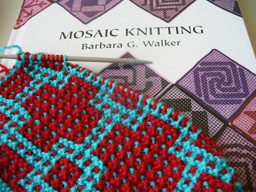 tricô mosaico