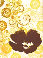 falling flower atc (ccerruti) Tags: art atc paper for mixed media cut courtney rubber stamp card trading artists trade available cerruti