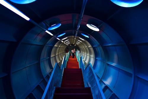 Trappen in het Atomium
