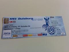 Eintrittskarte MSV Duisburg - FC Schalke 04