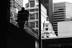 the view (solecism) Tags: newyork museum moma stairway museumofmodernart fauxdiptych