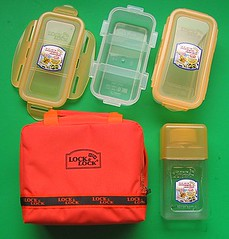 Orange Lock & Lock lunch sets