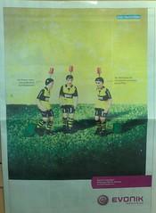 Borussia Dortmund vs. Werder Bremen - Werbung von Evonik
