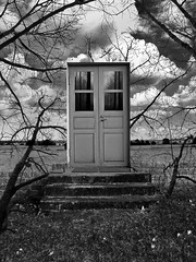 No turning back (Sameli) Tags: door trees bw white black tree forest blackwhite woods dream surreal mind future present past unconscious psychology psychoanalysis conscious