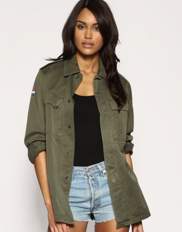 ASOS Reclaimed collection dutch army shirt