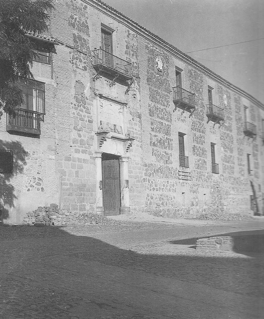 Palacio de Fuensalida durante su restauración. Foto Rodríguez