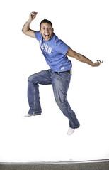 193:365 - Floater (Caleb Kerr) Tags: carpet jump jumping photoshoot clarity whitebackground overexposed 365 alienbee blownout aero aeropostale whiteseamless brightwhite project365 strobist paulcbuff elinchromskyport einsteinlights