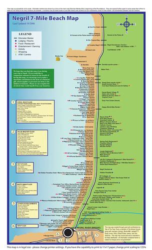 negril jamaica map