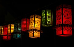 Vesak decor (NavindaK) Tags: blue decorations red black color colour green yellow night temple buddhist australia explore lanterns canberra vesak stolenphoto wesak onexplore135on05july2007 stolenbythesundaytimes httpnavindakblogspotcom