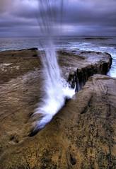the gap (Tyler Huston) Tags: ocean sea motion water gap lajolla splash superaplus aplusphoto ultimateshot