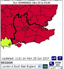 South East England - severe weather warnings
