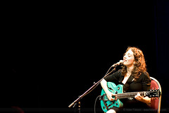 Regina Spektor and Guitar (HelenPalsson) Tags: music concert guitar live livemusic brisbane regina spektor reginaspektor thetivoli 20070709 lastfm:event=259967