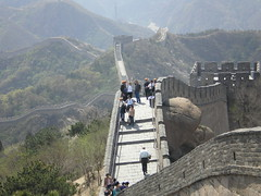 The Great Wall at Badaling -  (Linda^) Tags: china wall grey beijing tourists greatwall