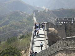 The Great Wall at Badaling -  (Linda^) Tags: china wall grey beijing tourists greatwall