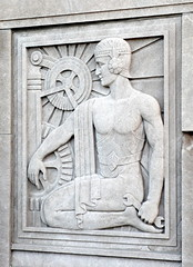 Bas-Relief, by Scipione Del Campo, a Chicago architect (Man_of Steel) Tags: bridge sculpture chicago plaque panel architectural artdeco deco gears sculptures wrench basrelief chicagoillinois sculptura chicagoy artdecochicago chicagoartdeco scipionedelcampoachicagoarchitect chicagoexamplesofbasreliefmasonrybasreliefchicagobasreliefcarvedstonereliefs basreliefinchicago artdecometalworkinchicago scipionedelcampoarchitectandpossiblysculptor