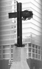 Hope (vsuydam) Tags: newyork architecture hope cross 911 black38white