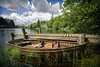 Loch Ard (gms) Tags: scotland nationalpark jetty paddle oops loch milton splash refreshing lochlomond ard droppedmycamera rowingboat queenelizabethforest