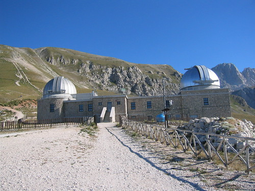 In Gran Sasso d'Italia the observatory at Campo Imperatore, and start of ascents of Corno Grande