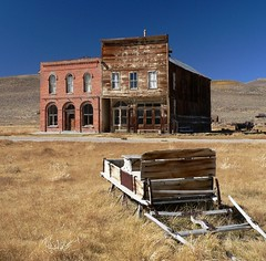 Sleighs on Main Street (Bodie Bailey) Tags: california brick landscape lumix roadtrip mining ghosttown bodie route395 sleigh soe 395 oldwest highway395 monocounty irresistiblebeauty superbmasterpiece