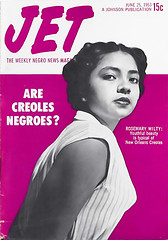 Are Creoles Like Rosemary Wilty Negroes? - Jet Magazine, June 25, 1953 (vieilles_annonces) Tags: old people usa black history vintage magazine print scans louisiana fifties photos african neworleans negro retro ephemera nostalgia photographs american rights 1950s blacks americana colored 50s magazines folks oldphotos civilrights creole blackhistory 1953 vintagephotos africanamericanhistory peopleofcolor vintagephotographs vintagemagazine coloredpeople negrohistory coloredfolk blackmagazines blacknews rosemarywilty louisianacreoles africanamericancreolesoflouisiana neworleanscreoles creolehistory creoleancestry