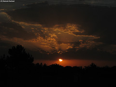 gloomy sky (Hamzeh Karbasi) Tags: lighting sunset sky cloud sun tree gloomy iran cloudy  esfahan  isfahan      najafabad  hamzeh karbasi      lighti