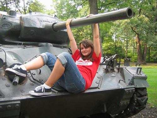 Tess on Tank