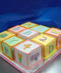 shower01 (Fingers In The Frosting) Tags: party cute kitchen cake breakfast muffins baking sweet pastel recipes ideas babyshower blueberrymuffins alphabetblocks cakedesign freshblueberries