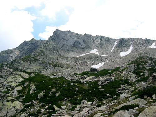 Monte Renoso vu depuis le lac de Bastani