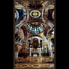 The church of St. George (Katarina 2353) Tags: pictures history film church architecture buildings photography nikon europe flickr cross image mosaic interior serbia religion pillar culture national dome marble balkans orthodox katarina sv crkva balkan srbija topola stefanovic oplenac pravoslavlje  vertorama  churchstgeorge dynastykaradordevic dynastykaradjordjevic karaorevi katarinastefanovic katarina2353 ora