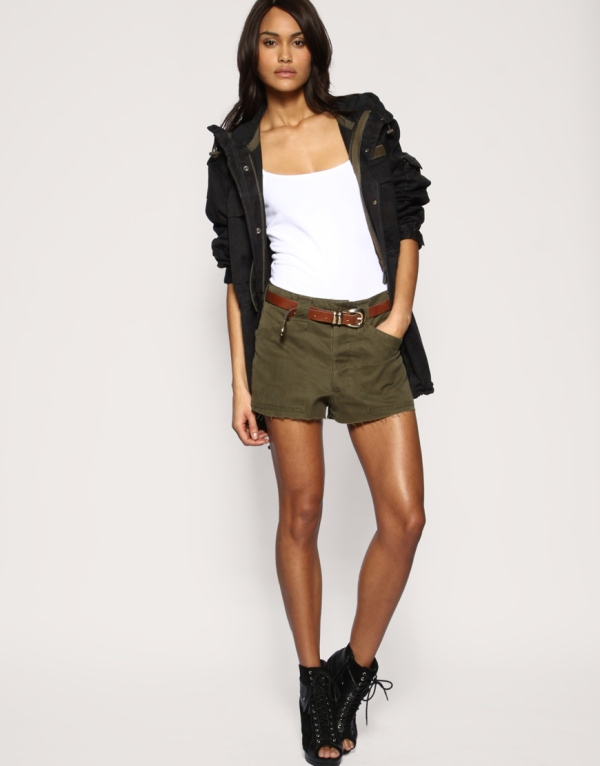 ASOS Reclaimed collection army hot pants
