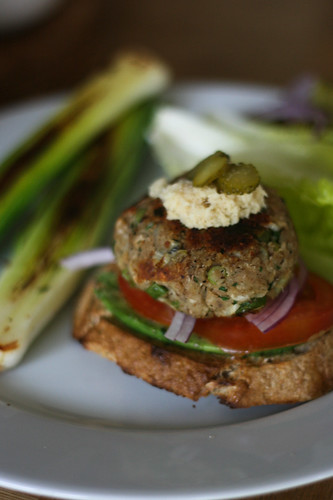 Celeriac and horseradish burger