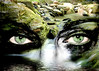 ~ River Debono ~ (ViaMoi) Tags: woman canada eye water stone creek photoshop flow eyes quebec georgeville viamoi s2wrap