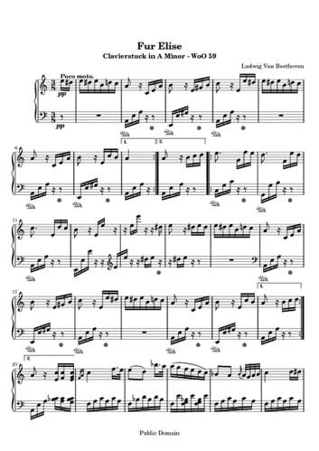 moonlight sonata sheet music free. Fur Elise - Free Sheet Music