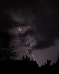 Lightning (Mike Matney Photography) Tags: storm weather clouds canon illinois midwest stlouis troy lightning rebelxs eos1000d