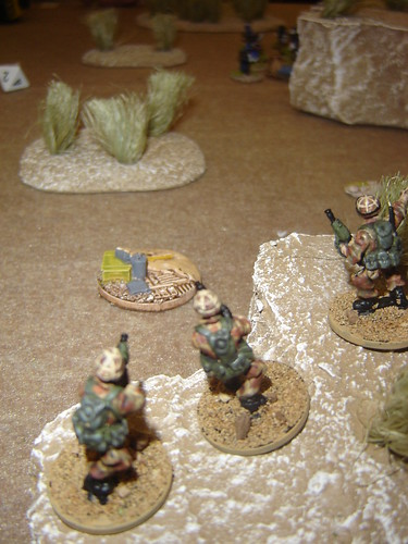 Marine fireteam clears left flank