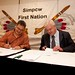 Chief Keith Matthew (Simpcw First Nation) and President David Hodge (Commerce Resources Corp.) Signing the Mineral Exploration Agreement