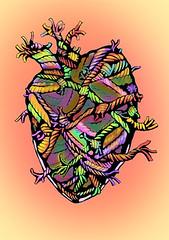 spent- heart knots (oceanyam) Tags: ocean love illustration heart tie knot romance yam relationship string connection spent hangon roap benyamini oceanyam illustrationfrieday
