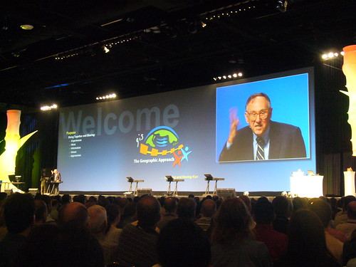 Jack Dangermond at ESRI User Conference