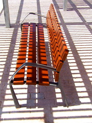 Tigers Only!!!!!!!!!!! (sunny-drunk) Tags: shadow bench spain stripes seat tiger mallorca flickrjobdiff flickrjobprem superhearts peurtopollensa adoublefave