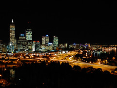Perth City: Night mode (tay ming wei) Tags: city longexposure night nikon d70 australia perth kingspark