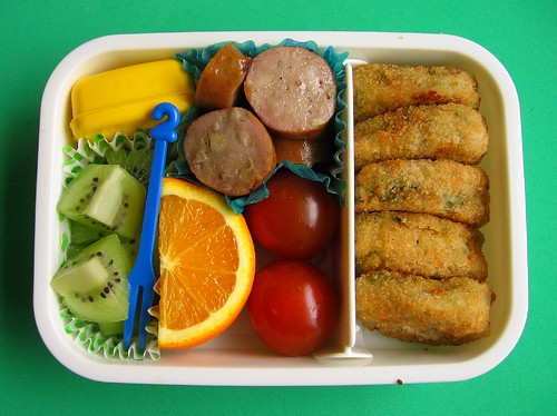 Spinach bite bento lunches