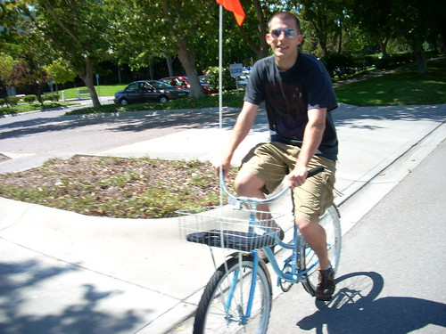 Google blue bicycle